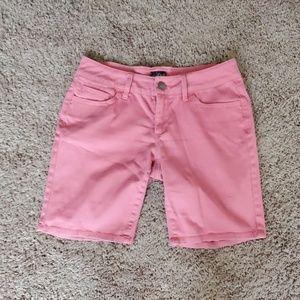 Bebop Salmon Pink Bermuda Shorts